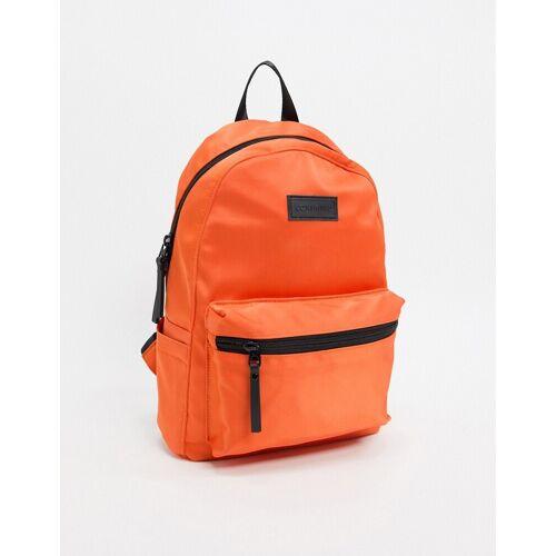 Consigned – Rucksack aus Satin mit Reißverschluss vorne-Orange No Size