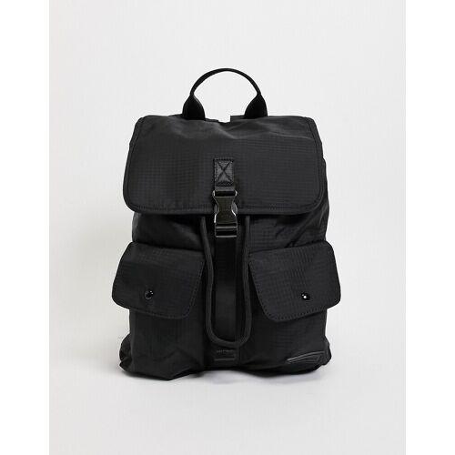 Consigned – Schwarzer Rucksack mit zwei Taschen No Size