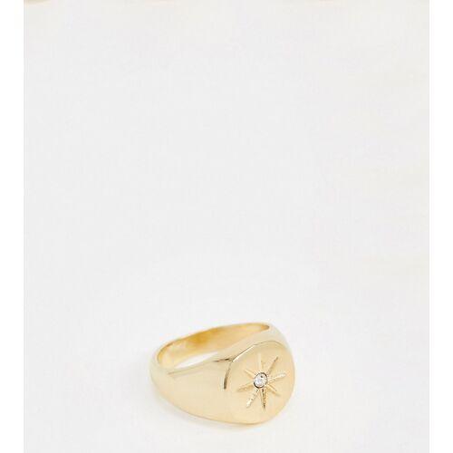 DesignB London – Exclusive – Siegelring in Gold mit Sterngravur M/L