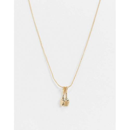 DesignB London – Goldene Halskette mit Löffel-Anhänger No Size