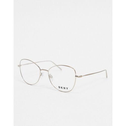 DKNY – City Native – Runde Brille ohne Sehstärke-Silber No Size