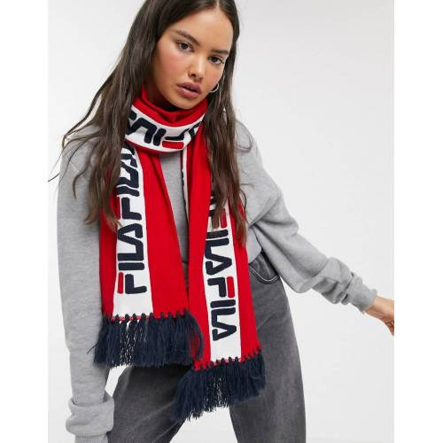 Fila – Banks – Roter Schal mit Logo No Size