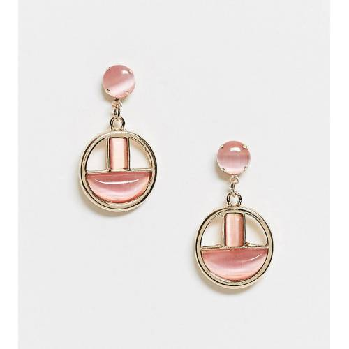 Glamorous – Exklusive Ohrringe in Gold und Rosa No Size