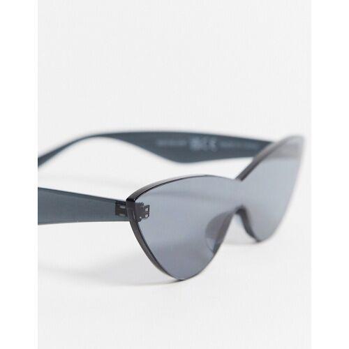 Glamorous – Rahmenlose Cat-Eye-Sonnenbrille in Schwarz No Size