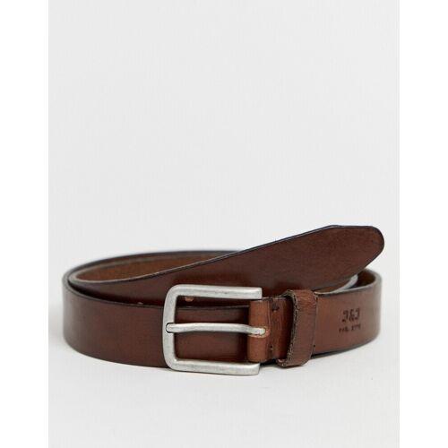 Jack & Jones – Brauner Ledergürtel 80cm