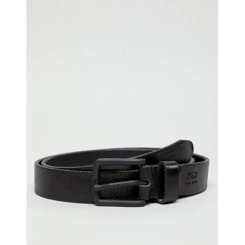 Jack & Jones – Schwarzer Ledergürtel 80cm
