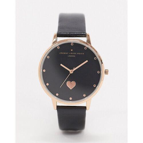 Johnny Loves Rosie – Armbanduhr mit Herzdesign-Schwarz No Size