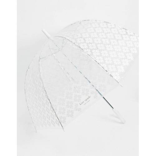 Kate Spade – Transparenter Regenschirm mit floralem Print No Size