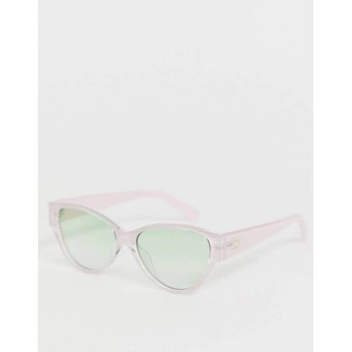 Le Specs – Eureka – Katzenaugen-Sonnenbrille in Rosa No Size