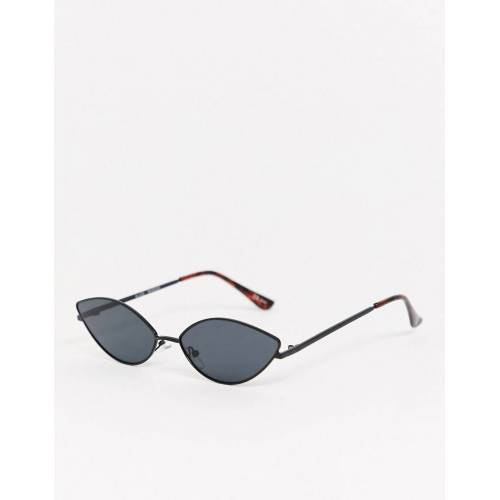 MinkPink – Slice – DünneCat-Eye-Sonnenbrille in Schwarz No Size