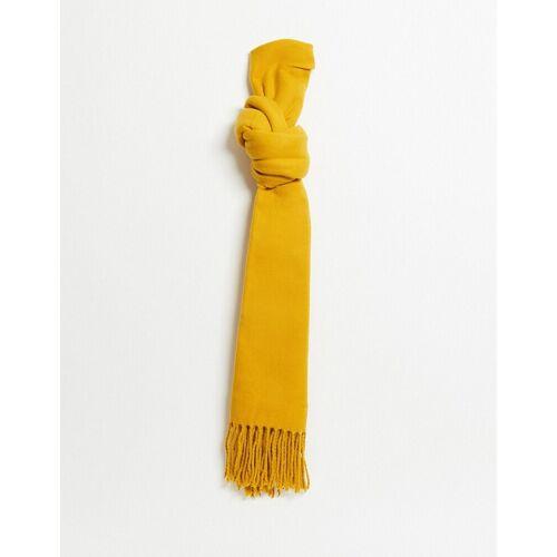Monki – Weicher Schal-Gelb No Size