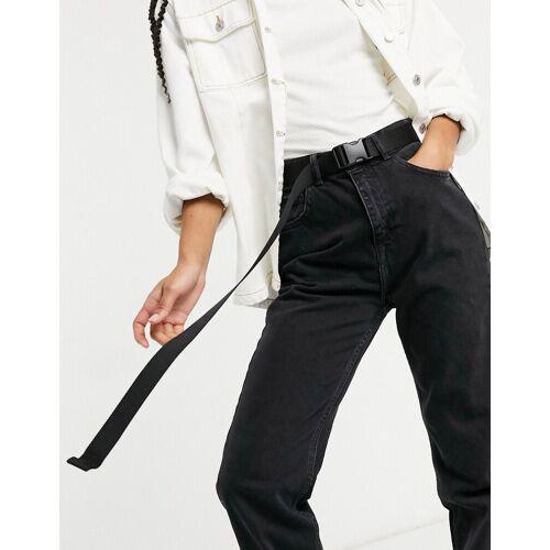 Monki Yrsa – Gürtel mit Clipverschluss in Schwarz Einheitsgröße