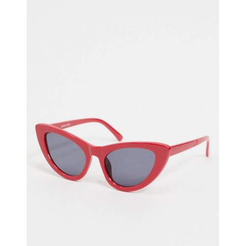 Noisy May – Katzenaugen-Sonnenbrille in Rot One Size