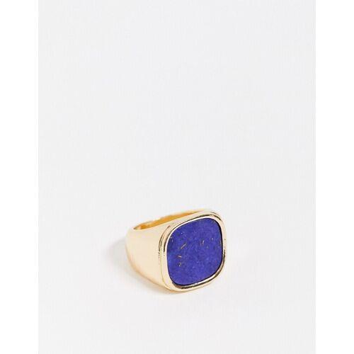 Nylon – Cocktail-Ring in Blau und Gold L