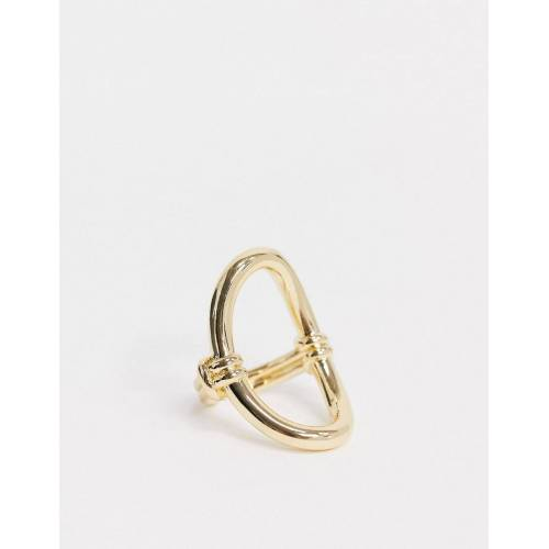 Nylon – Ovaler Ring in Gold No Size