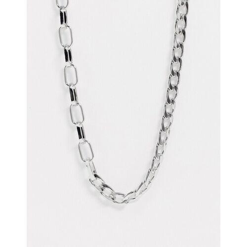 Pieces – Grobgliedrige Halskette in Silber No Size