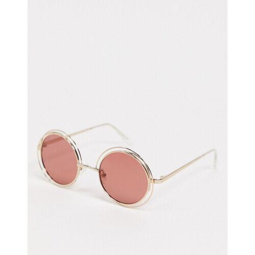 Pilgrim – Marcella – Runde Sonnenbrille-Rosa No Size