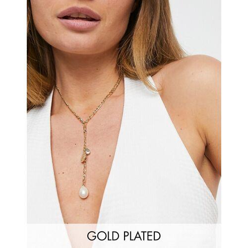 Pilgrim – Vergoldete Halskette mit drei Anhängern No Size
