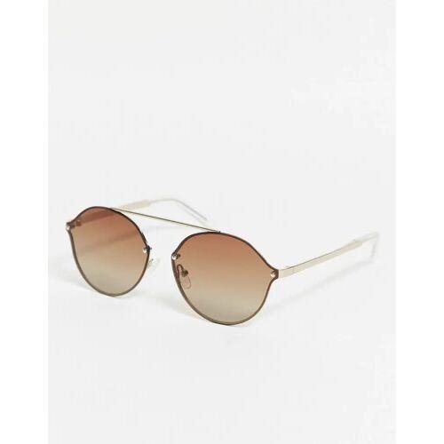 Pilgrim – Zadie – Ovale Sonnenbrille-Braun No Size