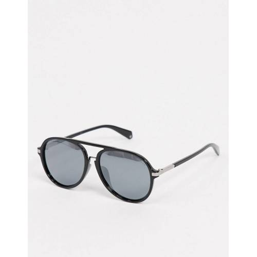 Polaroid – Schwarze Pilotensonnenbrille No Size