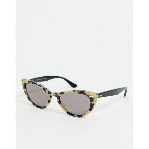 Ray-Ban Rayban – Cat-Eye-Sonnenbrille in Grau marmoriert No Size