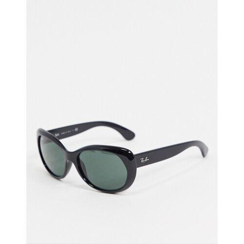 Ray-Ban Rayban – Runde Oversize-Sonnenbrille in Schwarz No Size