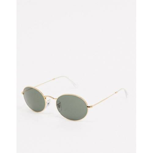 Ray-Ban Rayban – Schmale ovale Sonnenbrille in Gold No Size