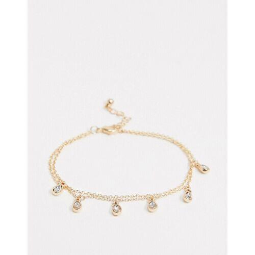 Saint Lola – Goldenes Armband mit Kristalltropfen No Size