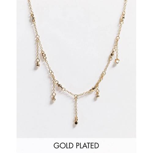 Saint Lola – Vergoldete Choker-Halskette mit Kristall-Lünette No Size