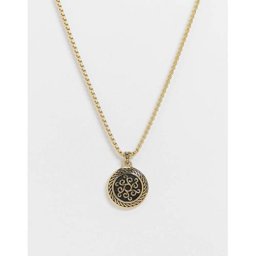 Seven London – Goldene Halskette mit goldenem Anhänger No Size