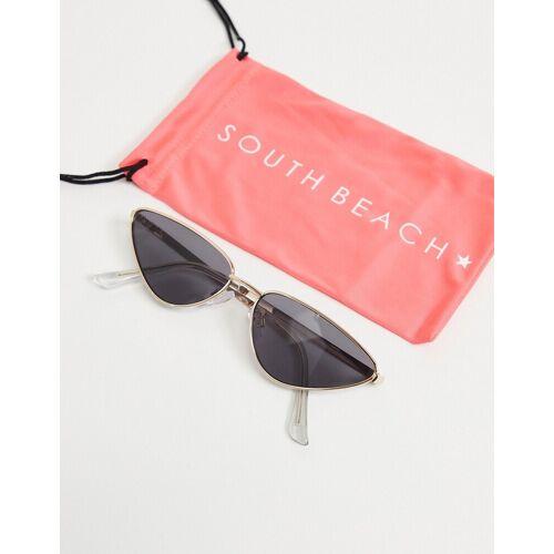 South Beach – Katzenaugen-Sonnenbrille-Gold No Size
