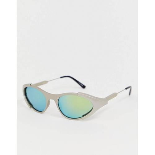 Spitfire – Runde Wrap-around-Sonnenbrille in Grau No Size