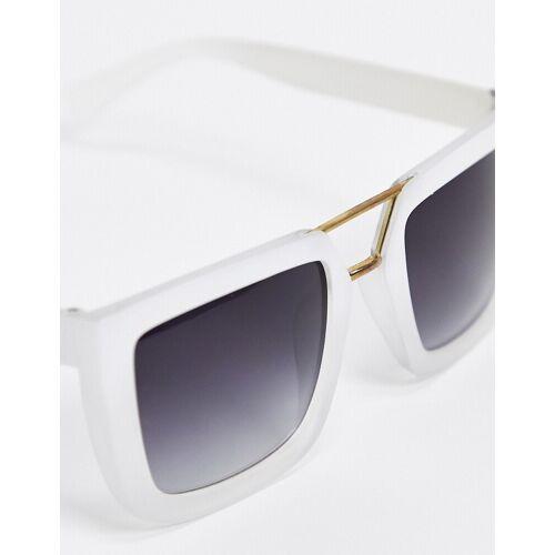 SVNX – Eckige Sonnenbrille in Weiß No Size