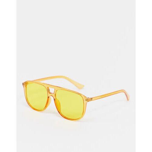 SVNX – Piloten-Sonnenbrille in Gelb One Size