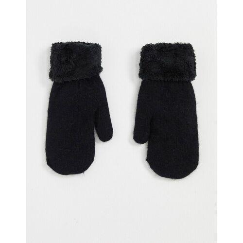 SVNX – Schwarze Handschuhe aus Teddyplüsch No Size