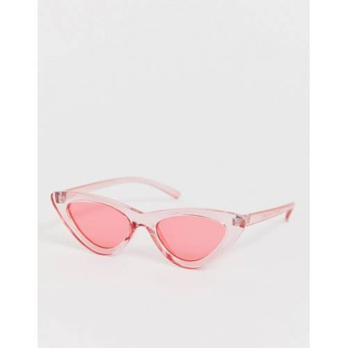 7X SVNX – Transparente Katzenaugen-Sonnenbrille-Rosa No Size