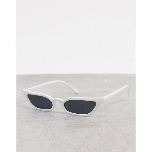 SVNX – Weiße Katzenaugensonnenbrille One Size
