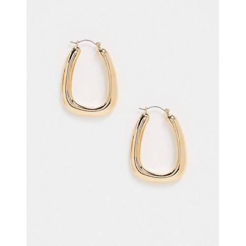 Topshop – Dicke, ovale Ohrringe in Gold No Size