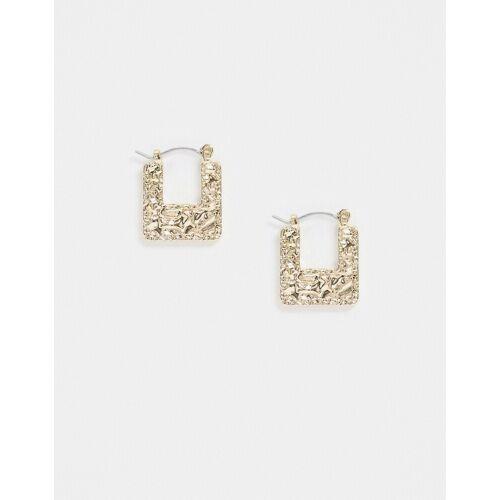 Topshop – Eckige Ohrringe wie aus geschmolzenem Gold No Size