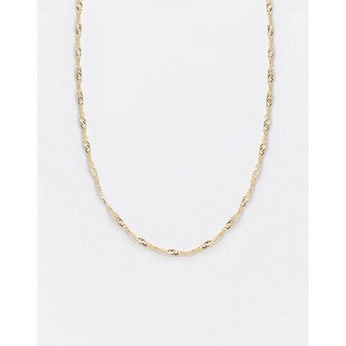 Topshop – Feine, goldfarbene Halskette No Size