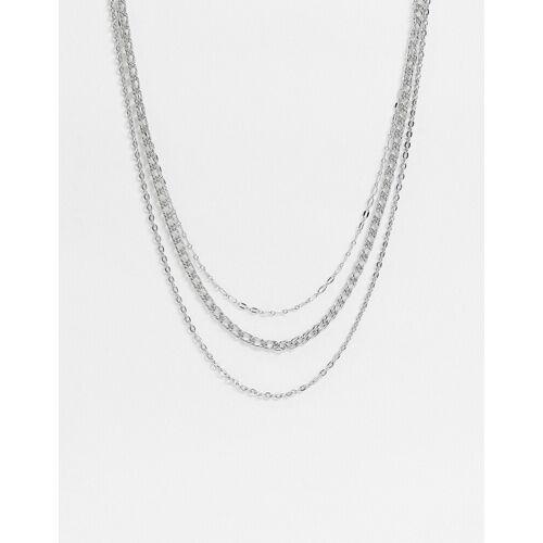 Topshop – Mehrreihige Halskette in Silber No Size