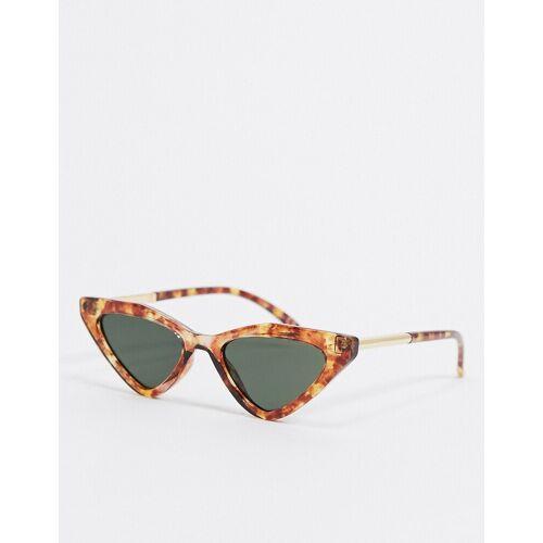 Topshop – Sonnenbrille in Rost-Rot Einheitsgröße