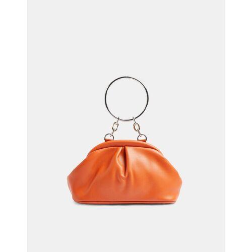Topshop – Weiche Vintage-Handtasche in Orange-Rot One Size