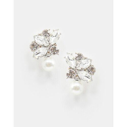 True Decadence – Hängeohrringe mit Kristall- und Perlendesign-Silber No Size