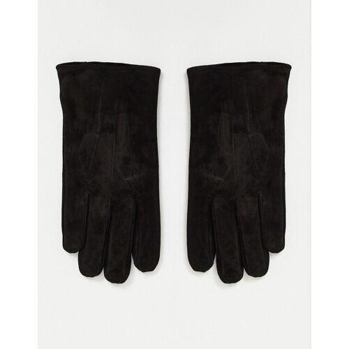 ASOS DESIGN – Handschuhe aus schwarzem Wildleder M/L