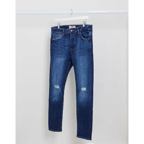 Bershka – Sehr enge Jeans in Blau W29 L32