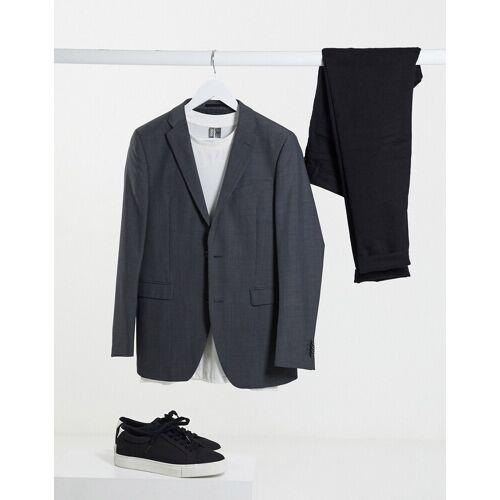 Esprit – Schmale Anzugjacke in Grau 52