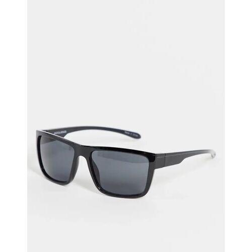 Jack & Jones – Sonnenbrille in Schildpatt-Schwarz No Size