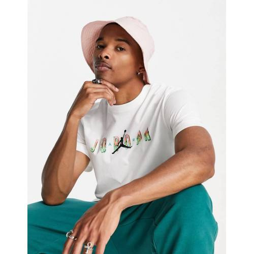 Jordan Nike – Jordan Sport DNA – T-Shirt in Weiß L