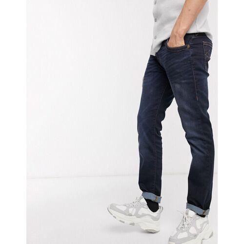 True Religion – Rocco – Enge Jeans mit Schrittlänge32-Blau W36 L32